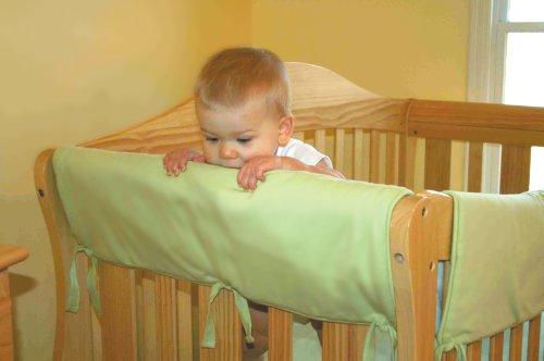 Buy Trend Lab Crib Wrap Rail Guard For Long Brown Fleece Now
