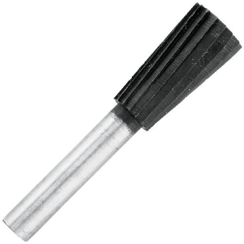 Vermont American 16676 1/2-Inch by 7/8-Inch Useable Length Inverted Cone Shaped Rotary File CD 1/4-Inch Shank Metal Rotary File for Drill by Vermont American