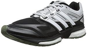 adidas Men's Response Boost Techfit M Running Shoe, Black/Running White/Heather, 8 M US