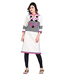 Shubh Women's Cotton Kurti (Shubh_183_Multi-Coloured_Free Size)