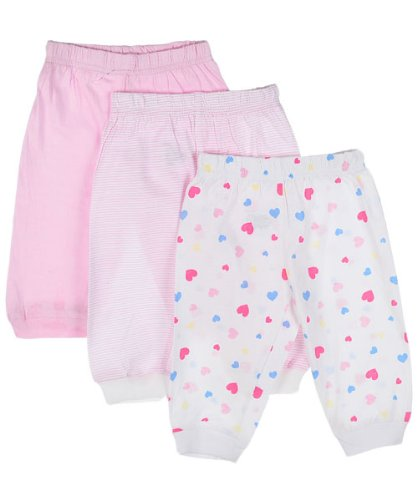 Carter's 3-Pack Girls Pants (Sizes 0M - 9M) - light pink, 6 - 9 months