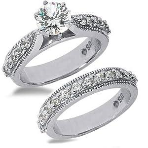 2.69 Ct. Antique Style Diamond Egagement Ring Set