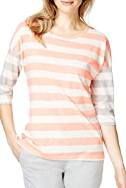 Fluro Contrast Striped T-Shirt  [T41-2515J-S]