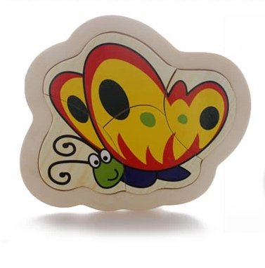 Thinkmax Wooden Butterfly Puzzle Toy Model front-915598