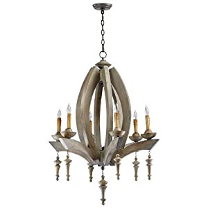 French Louis XIV, Gilded Wood, Six-Arm Chandelier at Mary Helen