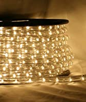 "Warm White 66 FT 110V-120V 2-Wire 1/2"" LED Rope Light, Christmas Lighting, Indoor / Outdoor rope lighting - CBConcept Brand from CBconcept DeSign"