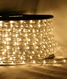 "Warm White 66 FT 110V-120V 2-Wire 1/2"" LED Rope Light, Christmas Lighting, Indoor / Outdoor rope lighting - CBConcept Brand"