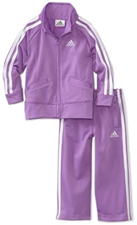 adidas Girls 2-6X Basic Tricot Set, Med Purple, 4T