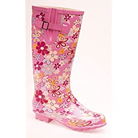 Stormwell ladies wellies, flower design