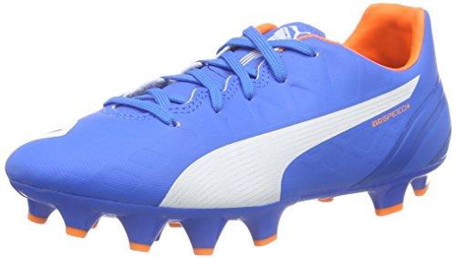Puma Kids EvoSpeed 4.4 Firm Ground Junior Boys Football Boots Soccer Shoes - Blue