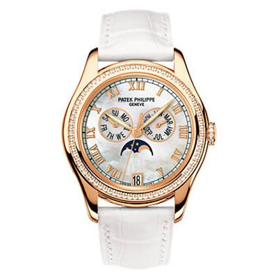 Patek Philippe Ladies Annual Calendar Complication in 18k Rose Gold & Diamonds- 4936R-001
