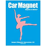 Ballerina Female Car Magnet Pink