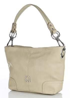 Noble Mount Simple Classic Everyday Hobo/Handbag - Beige
