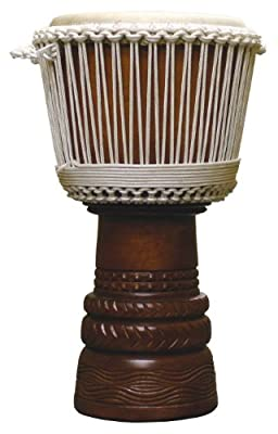 "Ivory Elite Pro African Djembe, 12"" Head - w/ Nylon Bag"