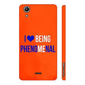 Micromax Canvas Selfie Lens Q345 I love being phenomenal designer mobile hard shell case by Enthopia