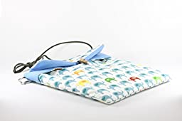 (Blue)Bonding Pouch , Small Pet Carrier for Sugar Glider , Hedgehogs , Hamsters and Other Small Animals. Easy to Clean. Machine Washable. Water Washable. Hand-made.