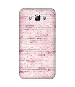 Pink Bricks Printed Back Cover Case For Samsung Galaxy E5