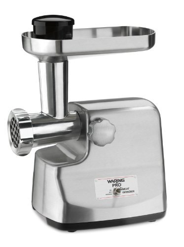 Waring Pro MG855 Professional Die-Cast Metal Housing Meat Grinder, Brushed Stainless Steel, Garden, Lawn, Maintenance