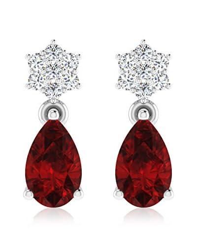 Art Of Diamond Pendientes Ruby White Gold
