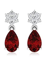 Art Of Diamond Pendientes Ruby White Gold