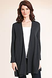 Pure Cashmere Ribbed Swing Cardigan