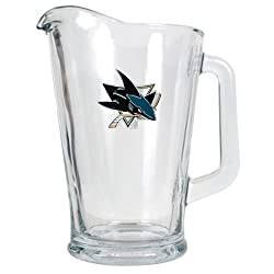 San Jose Sharks NHL 60oz Glass Pitcher - Primary Logo