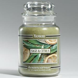 Yankee Candle Sage & Citrus Large Jar 22oz Candle