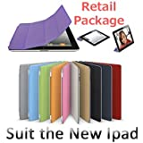 Purple Hard Case Cover Stand with Magnetic Smart Cover Wake and Sleep for Ipad 2 New iPad 3