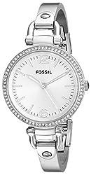 Fossil Georgia Analog Silver Dial Womens Watch - ES3225