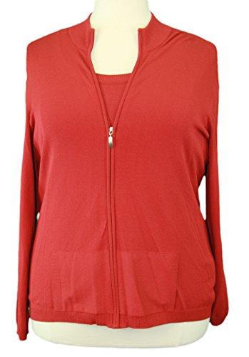 marina-rinaldi-by-maxmara-kate-red-mock-neck-2-pc-track-sweater-xl