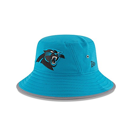 Men's NFL 2016 New Era Training Camp Sideline Bucket Hat (OSFM, Carolina Panthers)