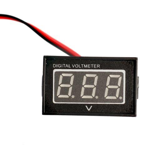 Vktech Dc15-120V Waterproof Blue Led Panel Meter Dc Digital Voltmeter Two-Wire