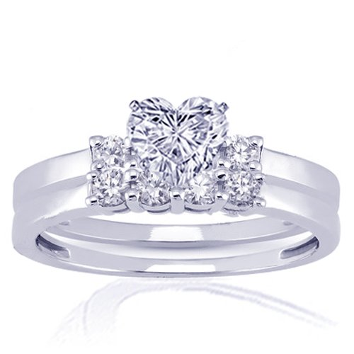 1.25 Ct Heart Shaped Diamond Engagement Wedding