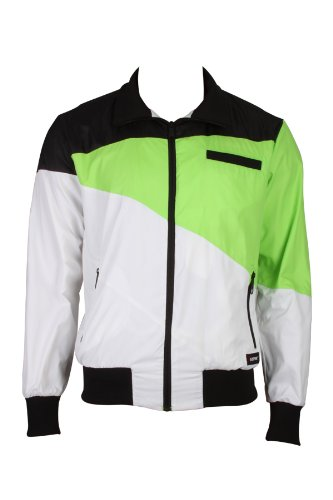 Eastpak Chop Mens Windbreaker Jackets Windjackets Outdoor Outerwear Sports Training Fitness Black Green white Size L