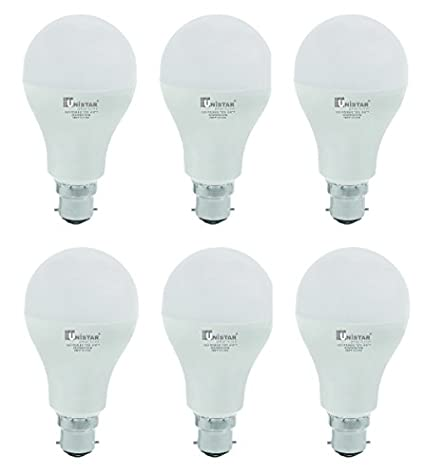 UNISTAR 18W B22 LED Bulb (Cool White, Pack Of 6)