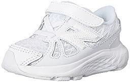 New Balance KV690I Uniform Running Shoe (Infant/Toddler), White/White, 3 W US Infant
