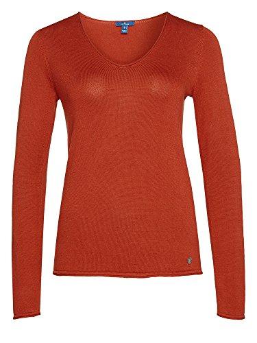 TOM TAILOR Donne Pullover rosso arancio 38