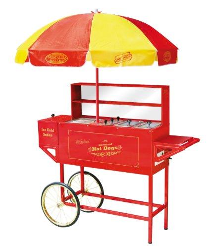 Nostalgia Electrics™ HDC701 Vintage Collection™ Carnival Hot Dog Cart & Umbrella (Nostalgia Electrics HDC-701 Vintage Collection Carnival Hot Dog Cart & Umbrella) (Hot Dog Cart Umbrella compare prices)