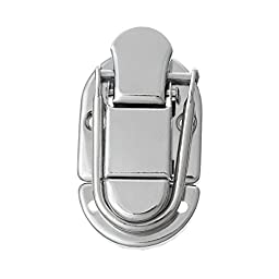 PEPPERLONELY Brand 5 Sets Silver Tone Jewelry Case Box Making Lock Latch Hardware 6cm x3.5cm (2-3/8\