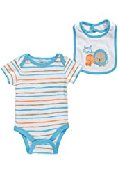"Cutie Pie Baby Boys' ""Best Friends"" Bodysuit & Bib Set"