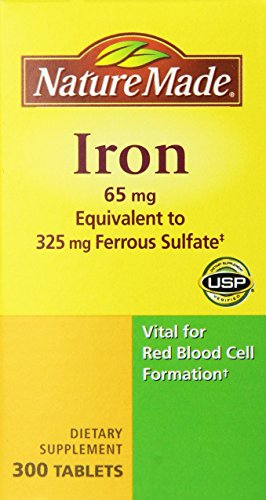 Nature Made Iron 65mg, Equivalent to 325 mg Ferrous Sulfate