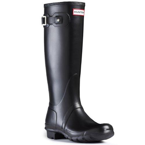 Hunter Womens Original Tall Black Rain Boot - 6 (Hunter Rain Boots Ladies compare prices)