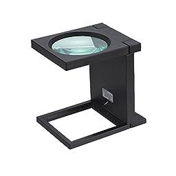 Generic 110mm Largelass Lens Magnifier with LED Lamp Color Black