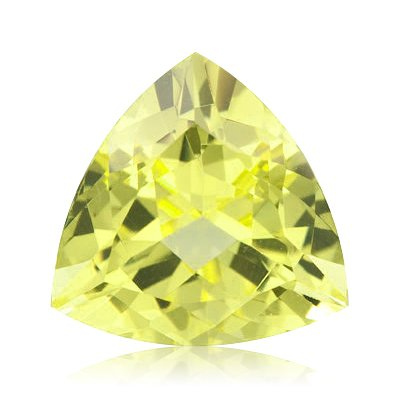 11.30 Cts of 16x16x16 mm AA Trillion Lemon Citrine ( 1 pc ) Loose Gemstone