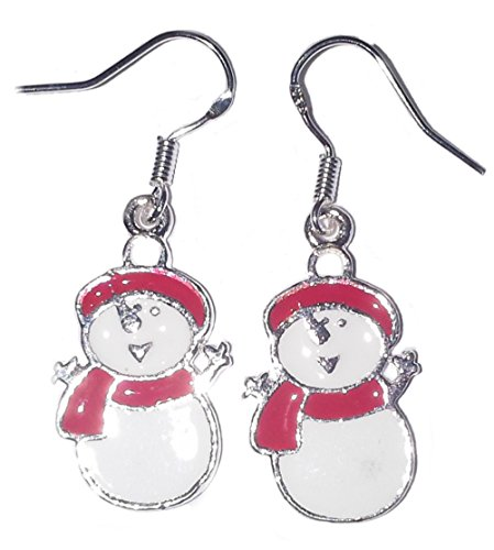 snowman-christmas-silver-earrings-christmas-costume-jewellery-uk-seller