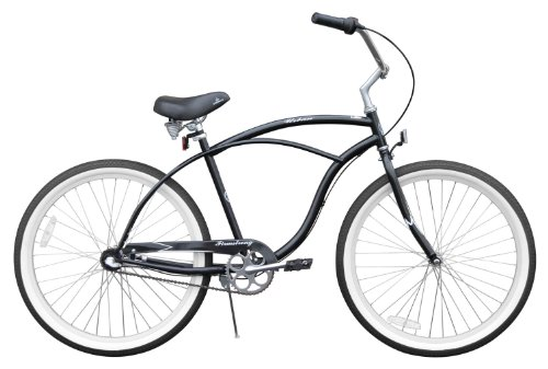 Men's Urban Man 3 Speed Beach Cruiser Bike Color: Black