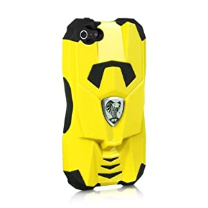 Licensed Platinum Collection Cobra Gt Series Hybrid Case for iPhone 5/5S - Retail Packaging - Yellow\Black