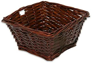 Woven Willow Square Basket-Brown