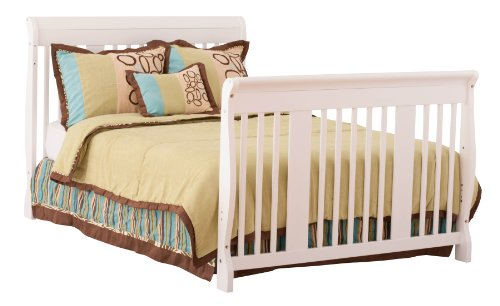 stork craft tuscany 4 in 1 convertible crib white. Black Bedroom Furniture Sets. Home Design Ideas