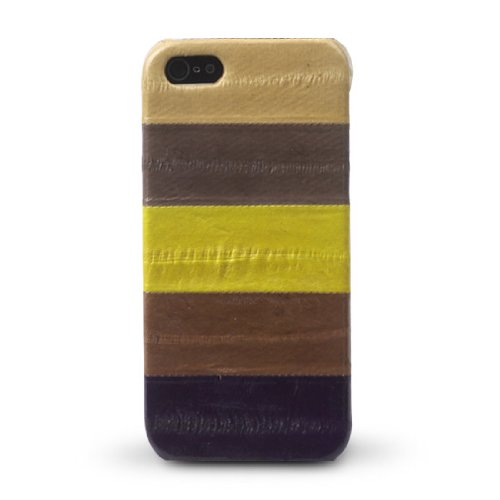 Special Sale Apple iphone 5 Zenus Prestige Natural EEL Leather Bar Type Cover Case / Luxurious Genuine Eel Leather - Multi Brown